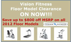 Vision Fitness Floor Model Clearance